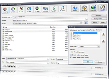 Audio CD Grabber software