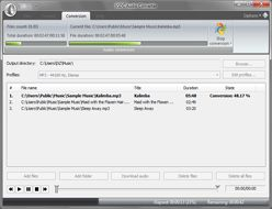 VSDC Free Audio Converter :: conversion in progress
