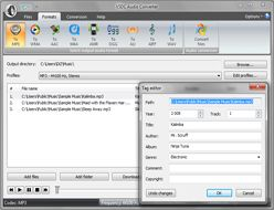 VSDC Free Audio Converter :: meta-tags editing