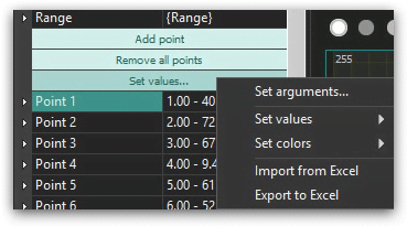 Animated diagram settings
