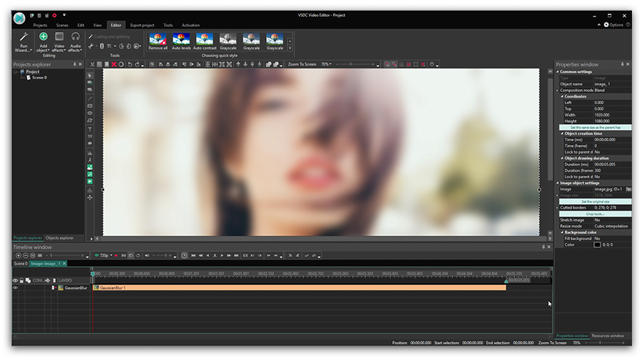 How to add effects to videos and images in VSDC Free Video Editor