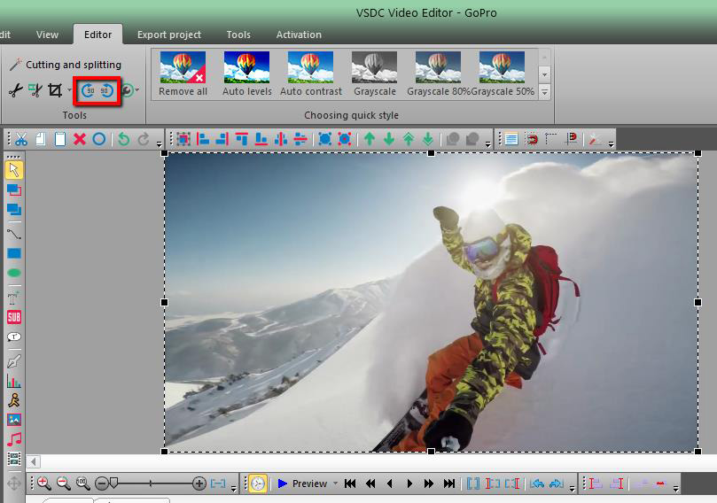 How to edit gopro videos with vsdc free video editor an error occurred ccuart Image collections