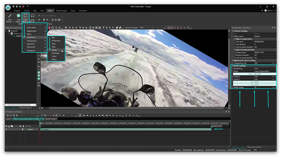 vsdc flip video