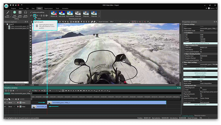 Splicing GoPro footage