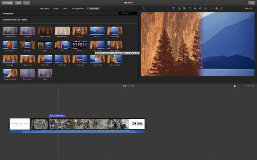 iMovie is a great gameplay video editor for macOS