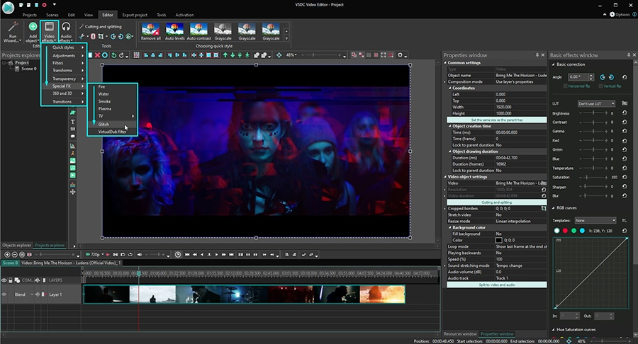 How to quickly create a video glitch effect for free