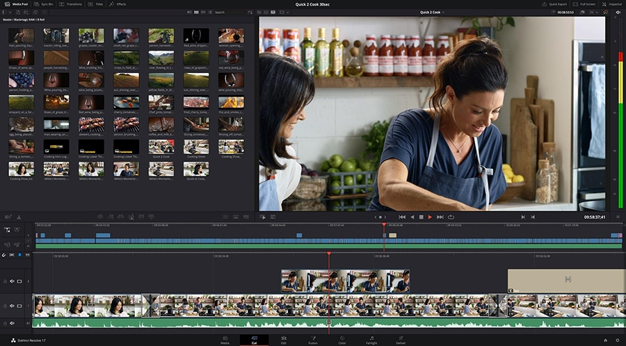 Davinci Resolve is a professional-grade video editor with advanced color correction toolset