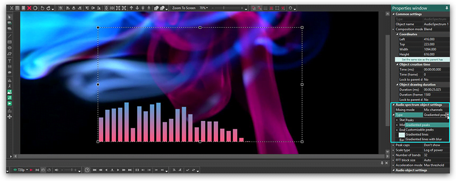 'Audio visualization' icon