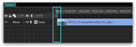 VSDC Free Video Editor timeline close-up