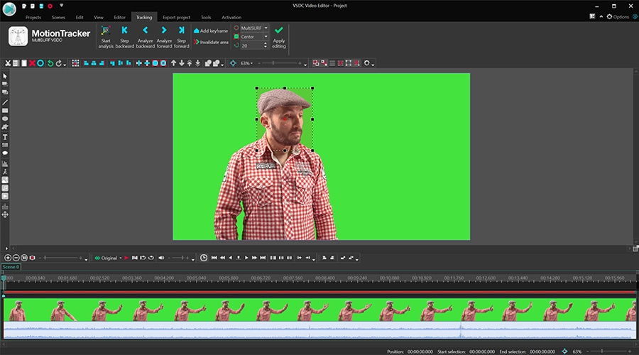 How to apply motion tracking to a mask in a video