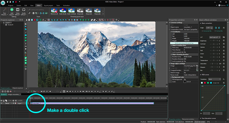 How to add an overlay into a video using VSDC Free Editor