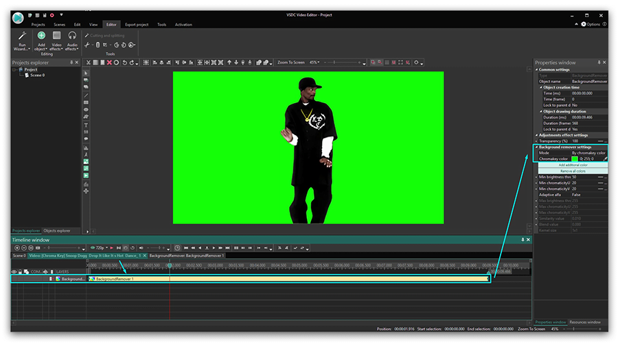 How To Remove A Background From A Video Using Vsdc