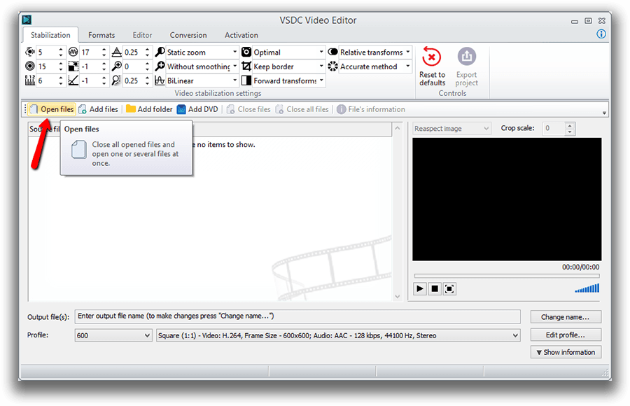How to stabilize a shaky video quickly and efficiently using VSDC