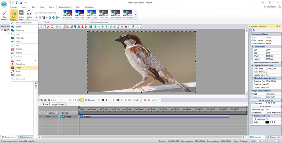 Add video file to video editor