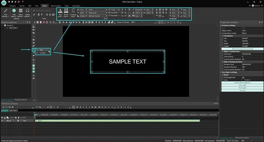 How to create stylish text for video