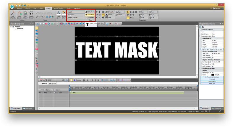 """How to add a """"Video in Text"""" mask with VSDC Video Editor"""