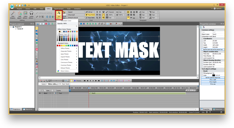 "How to add a ""Video in Text"" mask with VSDC Video Editor"