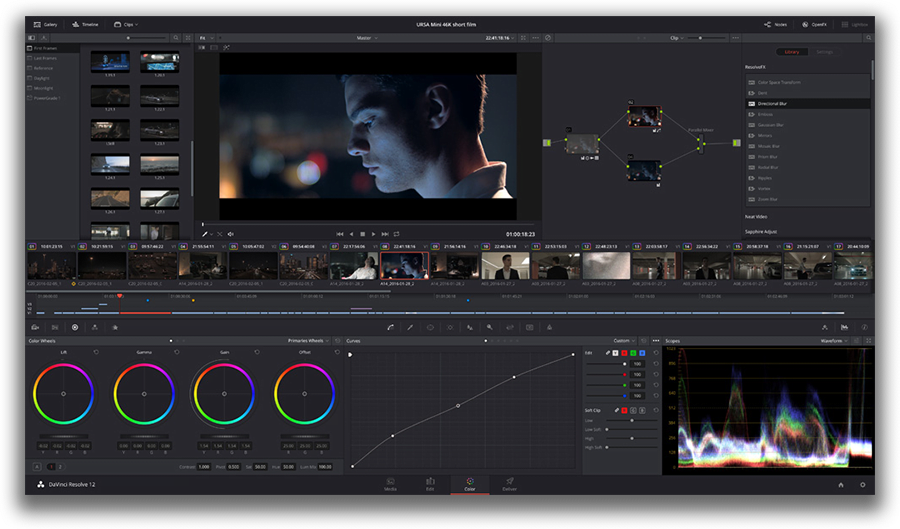 Davinci Resolve - free professional-level video editing software