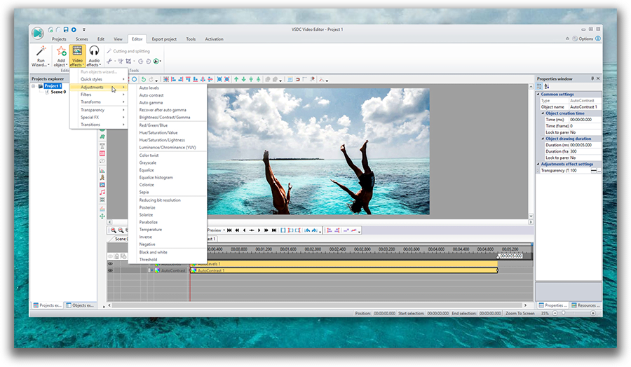 VSDC | Free video editing software for Windows 7 | 32-bit