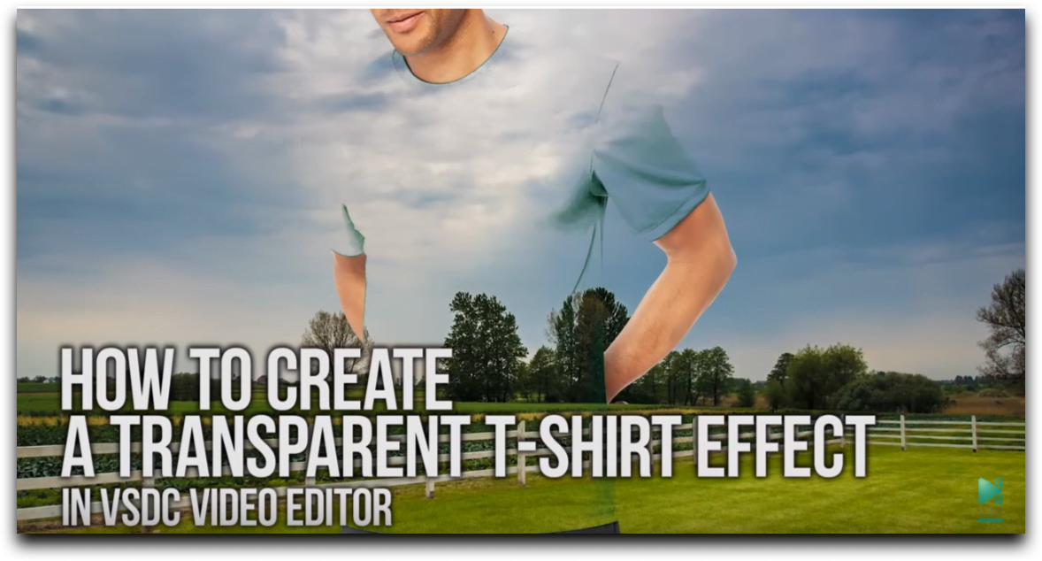 Transparent T-shirt effect in VSDC