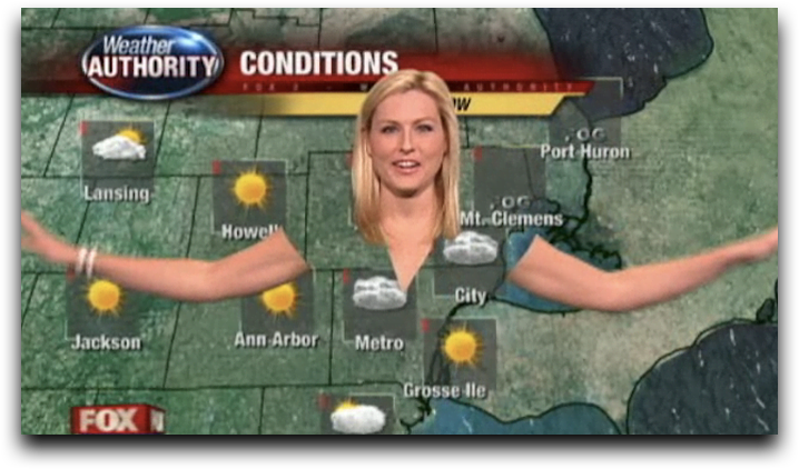 The transparent weather forecast host