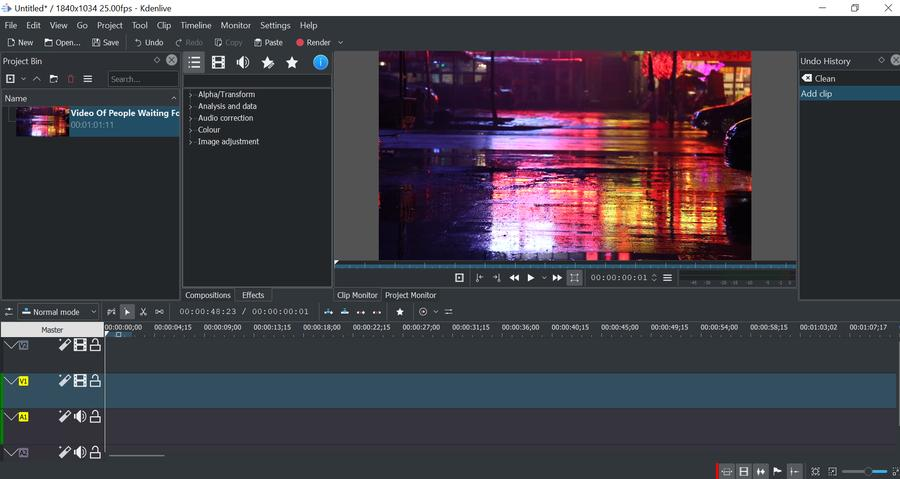 Kdenlive is open source video editing software