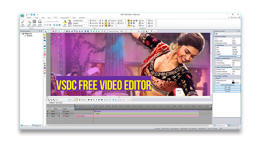 VSDC bollywood video editor