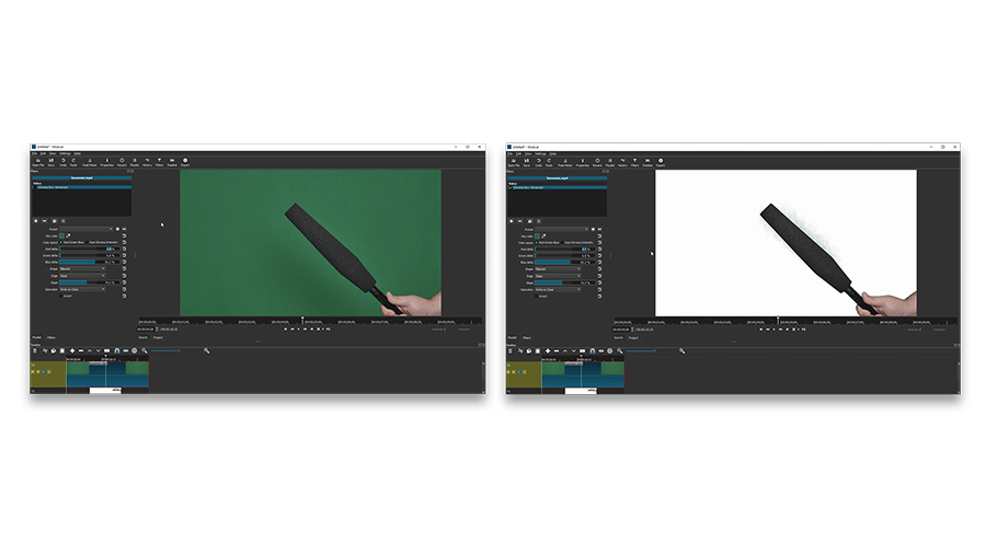 Shotcut chroma key (before-after)