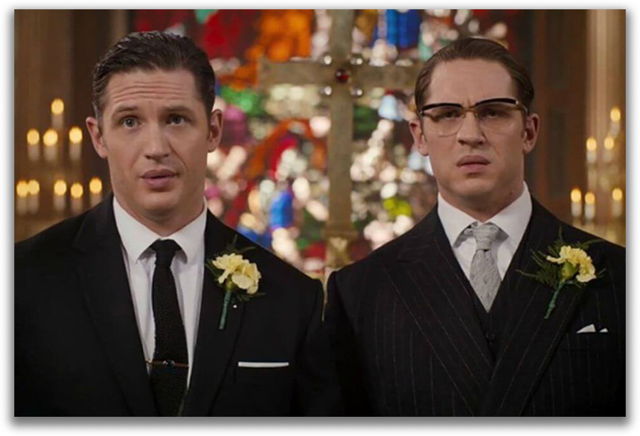 In Legend twin brothers both played by Tom Hardy are created with masking feature