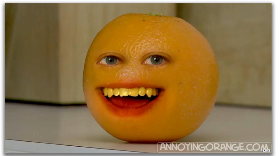 Outlined part can be layered on another image or video similar to the annoying orange series