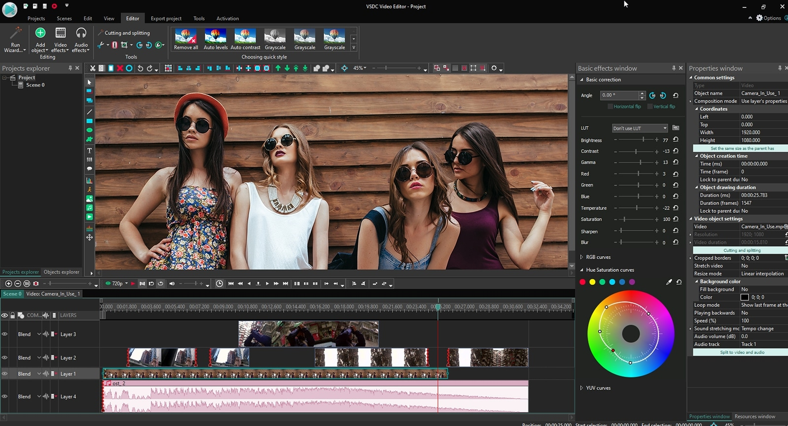 VSDC Free Video Editor - editar vídeo y audio gratis