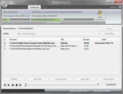 VSDC Free Audio Converter :: conversion in progress