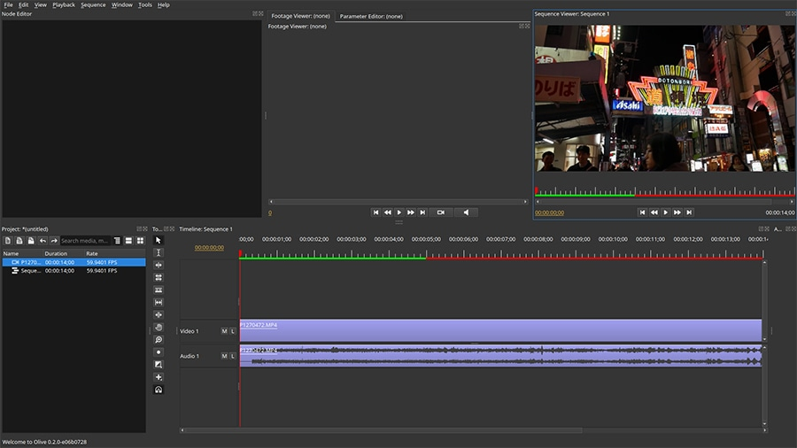 Olive is an open-source alternative to iMovie that works on Windows and Linux