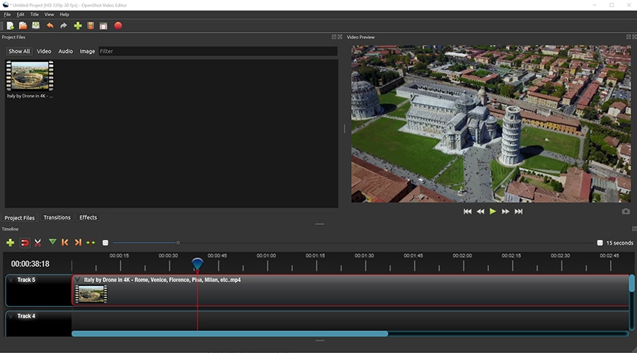 Openshot is simple video editing software that reminds Movie Maker but offers more advanced features